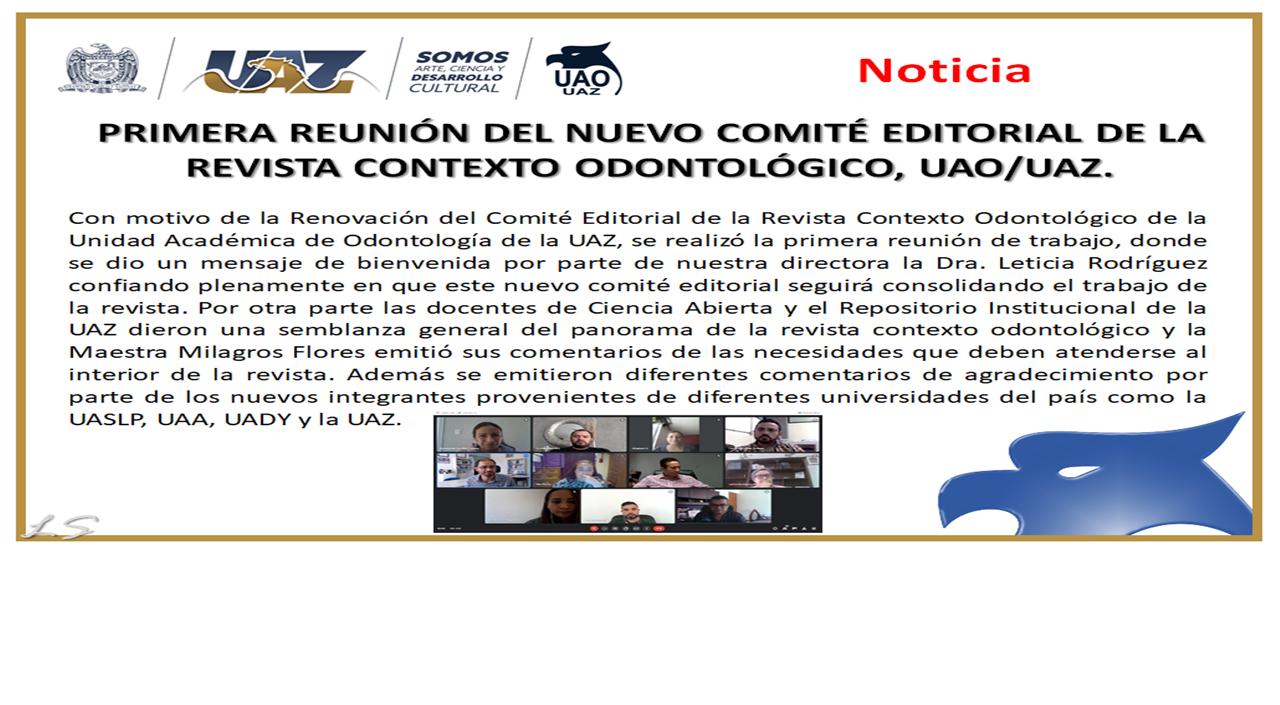 PRIMERA REUNIÓN DEL NUEVO COMITÉ EDITORIAL carrusel